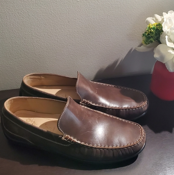 Mens ecco leather loafers 45 us 11